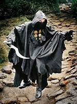 Fantasy Leather Poncho with Hood
