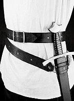 Black Leather Sword Belt