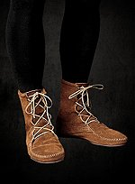 Brown Suede Moccasin Half Boots