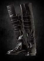Futuristic Knee High Leather Boots
