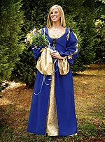 Blue Kirtle with Detachable Sleeves
