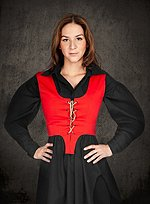 Red Cotton Bodice