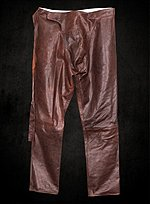 Robin Hood Leather Pants brown