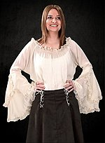 Peasant Blouse with Trumpet Sleeves
