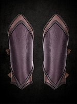 Pointed Brown Leather Bracers