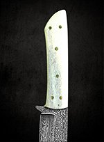 Damascus Steel Cowboy Knife