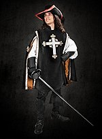 Musketeer Surcoat black