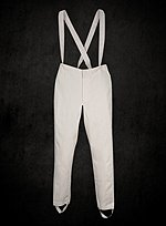 White British Empire Military Trousers