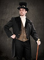 Steampunk Damask Tailcoat