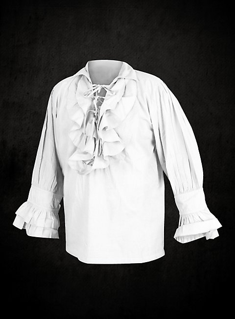 White Poet Shirt High Quality Shirt With Ruching And Lacing