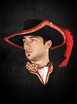 Suede Musketeer Hat red
