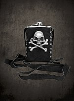 Pirate Hip Flask with Pouch black