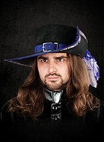 Suede Musketeer Hat blue