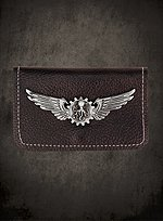 Steampunk Wallet with Silver Badge