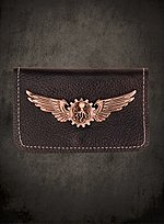Steampunk Wallet with Copper Badge