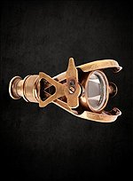 Steampunk Leather Armband with Spyglass