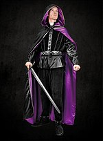 Reversible Robe purple-black