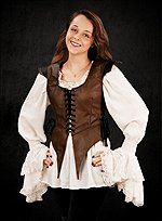 Brown Leather Bodice